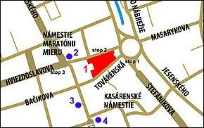 Lokalita - Bastion Center Košice
