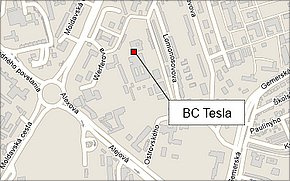 Business Centrum TESLA - lokalita