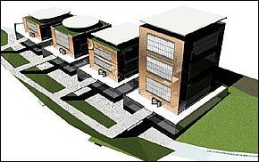Vizualizácia - Obchodno - administratívne centrum Košice