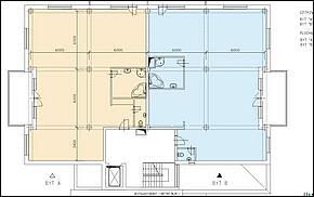 Pôdorys - 2. až 5. podlažie (nosné steny)