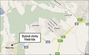 Bytové domy Malá Ida - lokalita
