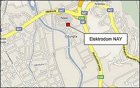Elektrodom NAY Košice II - lokalita