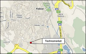 Lokalita - Technomarket Košice