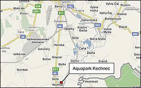 Lokalita - Aquapark Kechnec