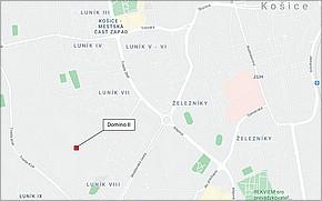 Domino II Košice - Lokalita