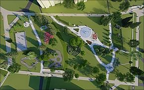 Revitalizácia Katkinho Parku Vizualizácia