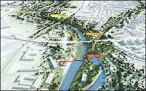 Vodácky koplex na Hornáde - vizualizácie