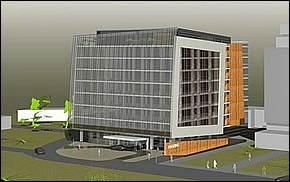 Vizualizácia - Business Center Moldavská Košice