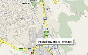 Lokalita - Polyfunkčný objekt Košice - Hraničná