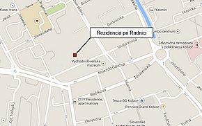 Rezidencia pri radnici - Strojárenská Košice - lokalita