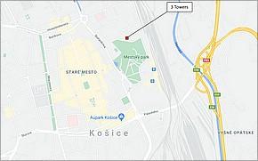 3 Towers Košice - Lokalita