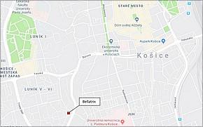 Bellatrix Košice - Lokalita