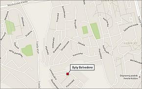 Projekt Byty Belvedere - lokalita