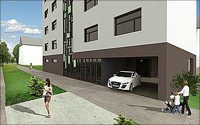 Vizualizácia - Bytový dom pri plavárni Košice