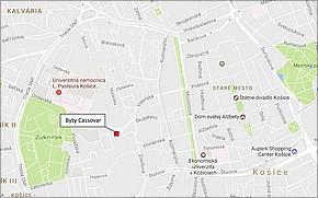 Projekt Byty Cassovar - lokalita