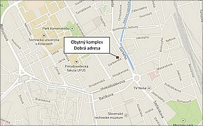 Obytný komplex Dobrá adresa (Garbiarska) - lokalita
