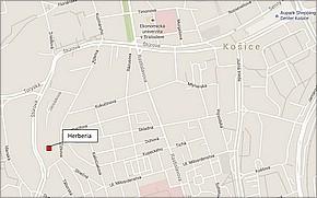 Projekt terasové byty Herberia Košice - lokalita