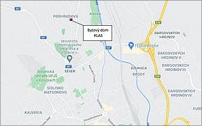 Bytový dom s polyfunkciou KLAS Košice - Lokalita