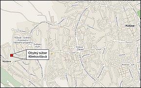 Mapa - Obytný súbor TITUS Klimkovicová II. etapa Košice