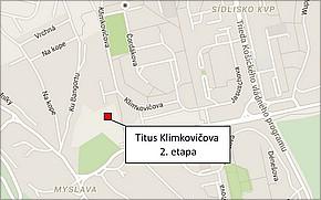 Obytný komplex Titus Klimkovičova 2. etapa - lokalita