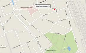 Projekt Kmeťova residence - lokalita