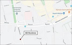 KZC Residence Košice - Lokalita