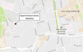 Apartmánové domy Medická - lokalita