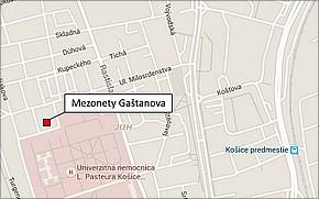 Projekt Mezonety Gaštanova - lokalita