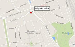 Projekt Mlynská bašta - lokalita