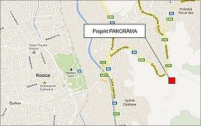 Byty Košice - Projekt PANORÁMA 4. etapa - lokalita