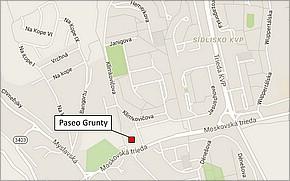 Projekt Paseo Grunty - lokalita