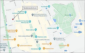 Rezidencia Centrum Košice - Lokalita