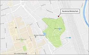 Projekt Rezidencia Mestský Park - lokalita