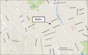 SkyOne - Bytový dom Garbiarska - lokalita