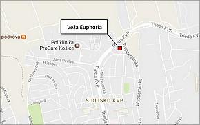 Projekt Veža Euphoria - lokalita