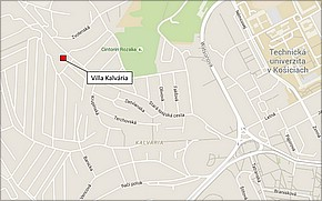 Villa Kalvária - lokalita
