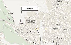 Projekt Villapark - Košice - lokalita