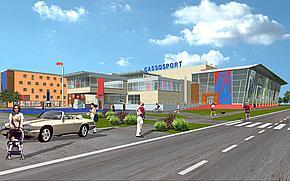 Športové centrum Cassosport vizualizácia