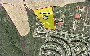 Jazdecký Areál (Sídlisko KVP) umiestnenie